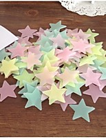 Childrens Room Wall Stickes  Fluorescent Stars Pentagram Style  Decorative PVC Wall Stickers