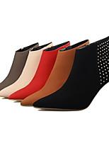 Scarpe Donna - Stivali - Formale / Casual - Tacchi / Stivaletto / A punta / Chiusa - A stiletto - Finta pelle -Nero / Marrone / Rosso /