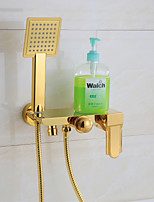 Bathtub Faucet Antique Handshower Included Brass Painting