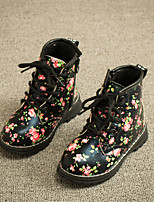 Girls' Shoes Outdoor / Dress / Casual Fashion Boots / Combat Boots Faux Fur / Calf Hair Boots Blue / Pink / White
