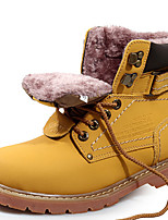 Unisex Boots Spring Fall Winter Couple Shoes Cowhide Outdoor Office & Career Athletic Casual Work & Safety Light Brown Yellow