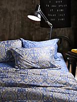 marinha cama jacquard de algodão set 4 peças