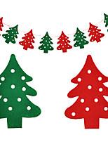 Noël suspendu drapeaux forme d'arbre pour la fête à la maison de vacances deracotion