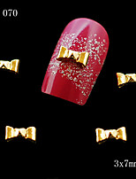 10pcs 3D Rhinestone Alloy Metal Nail Art Tips Glitters Decoration Golden Bowknot Lovely 3*7mm