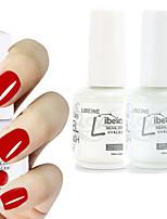 LIBEINE 1set(Color 002 + Base Coat+ Top Coat) 3PCs Soak Off 15 ML UV Gel Nail Polish Color Gel Polish