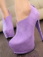 Women's Shoes Stiletto Heel Heels / Platform / Round Toe Heels Party & Evening / Dress / Casual Purple / Red