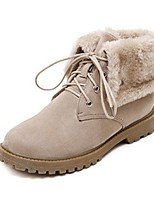 Women's Shoes Fleece Low Heel Fashion Boots Boots Office & Career / Dress / Casual Gray / Beige