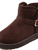 Women's Shoes Synthetic Flat Heel Snow Boots/Fashion Boots Boots Party & Evening/Dress/Casual Black/Red/Taupe
