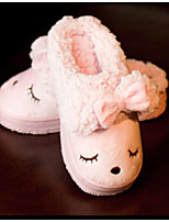 Girls' Shoes Casual Comfort / Slippers / Round Toe Faux Fur / Calf Hair Slippers Pink / Red
