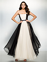 Formal Evening Dress - Multi-color A-line Strapless Ankle-length Chiffon