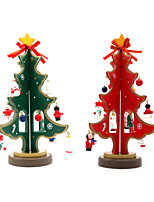 Cute Mini Christmas Tree 23cm Wooden DIY Christmas Decorations For Home Christmas Gifts Kids