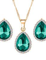 Jewelry Necklaces / Earrings Jewelry set Rhinestone Fashion Wedding / Party / Daily 1set Women Wedding Gifts