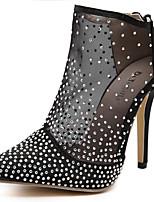 Chaussures Femme - Bureau & Travail / Habillé / Soirée & Evénement - Noir / Blanc - Talon Aiguille - Talons / Confort / Bout Pointu -