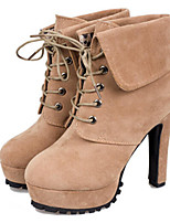 Women's Shoes Stiletto Heel Pointed Toe Boots Casual Black / Beige