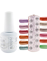 YeManNvYou®1PCS Sequins UV Color Gel Nail Polish No.97-108 Soak-off(15ml,Assorted Colors)