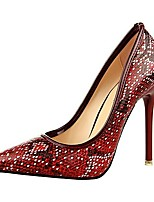 Women's Shoes AmiGirl Best Sale Snake Lines Stiletto Heels with Flow Mark Party/Dress Red/Black