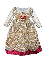 Girl's Beige Dress , Dresswear Satin Winter / Fall