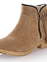 Women's Shoes Synthetic Chunky Heel Cowboy / Western Boots / Snow Boots  Party & Evening / Dress / Casual Black / Beige
