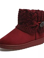 Women's Shoes Leatherette Flat Heel Snow Boots Boots Casual Black / Brown / Green / Red