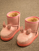Girls' Shoes Outdoor / Casual Snow Boots Faux Fur / Calf Hair Boots Black / Pink / Red