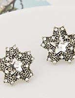 Women's Fashion Sweet Temperament Rhinestone Star Stud Earrings