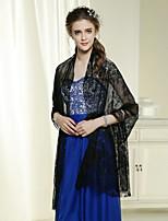 Wedding / Party Wraps Western Style Shawls Sleeveless Cotton / Lace Black