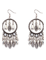 Women's European Style Fashion Tassel Droplets Earrings
