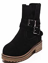 Chaussures Femme - Bureau & Travail / Habillé / Décontracté - Noir / Marron / Vert / Gris - Talon Bas - Bout Arrondi / Bout Fermé - Bottes