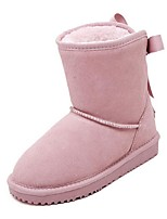 Women's Shoes Leather Platform Snow Boots / Round Toe Boots Outdoor / Casual Multi-color