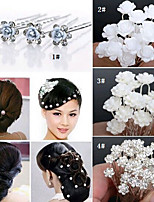 20PCS Wedding Bridal Pearl Hair Pins Flower Crystal Hair Clips Bridesmaid Jewelry 5 Styles