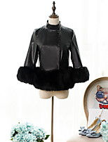 Women Faux Fur Top , Belt Not Included Fur Coat