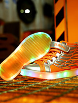 LED Light Up Shoes,Boy's and Girl Wing shoes Spring / Summer / Fall / Winter Novelty Leather Casual Flat Heel Hook & Loop /