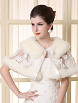 Lace Sleeveless Wedding Wraps Imitation Cashmere Capelets/Wraps/Shawls