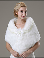 Wedding / Party/Evening / Casual Faux Fur Ponchos Sleeveless Wedding  Wraps / Fur Wraps