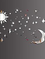 Sun Moon Stars DIY Mirror Acrylic Wall Stickers Wall Decals