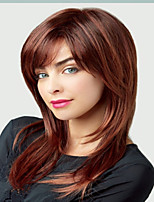 Deep Brown Synthetic Medium Wigs In Stock To European Women Lady