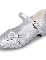 Girls' Shoes Outdoor / Casual Round Toe Leatherette Flats Blue / Pink / Silver