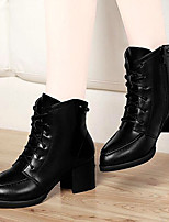 Women's Shoes AmiGirl Best Sales Leather Stiletto Heel Fashion Sexy Boots Wedding/Party/Dress Black/Wine