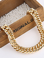 New Vintage Fashion Golden Chunky Double Strand Gold Chain Necklace