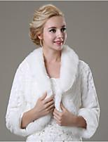 Wedding / Party/Evening / Casual Faux Fur Shrugs 3/4-Length Sleeve Fur Coats