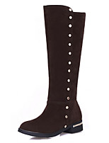 Women's Shoes Low Heel Round Toe / Closed Toe Boots Office & Career / Dress / Casual Black / Brown / Khaki