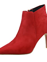 Women's Shoes Suede Stiletto Heel Heels / Bootie / Pointed Toe / Closed Toe Boots Dress / Casual More Colors Available