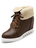 Calçados Femininos - Botas - Bico Fino - Salto Baixo - Preto / Marrom / Branco - Courino - Casual