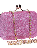Women Polyester / Metal Minaudiere Clutch / Evening Bag - Pink / Blue / Gold / Silver / Black