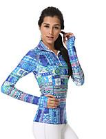 Yokaland ® Ioga tops Respirável / Secagem Rápida / wicking Stretchy Wear Sports Ioga / Pilates / Fitness Mulheres
