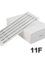 ITATOO™ 50pcs 1211FL Platinum Tattoo Needles 316 Stainless Steel Needles for Shader