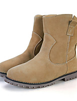 Women's Shoes Suede Flat Heel Fashion Boots / Combat Boots Boots Party & Evening / Suede Leather Shoes / Warm Velvet