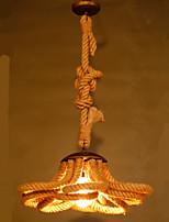 American Pastoral Village Restaurant Hall Coffee Rope lamp Retro