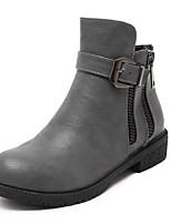 Women's Shoes  Chunky Heel Combat Boots / Round Toe Boots Outdoor / Casual Black / Gray