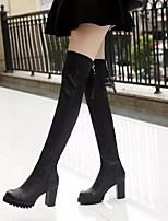 Women's Shoes  Wedge Heel Fashion Boots / Round Toe Boots Casual Black